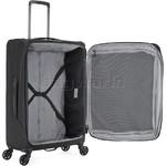 Antler Oxygen Medium 70cm Softside Suitcase Black 40816 - 4