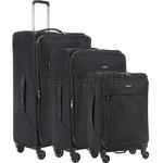 Antler Oxygen Softside Suitcase Set of 3 Black 40826, 40816, 40815 with FREE GO Travel Luggage Scale G2006