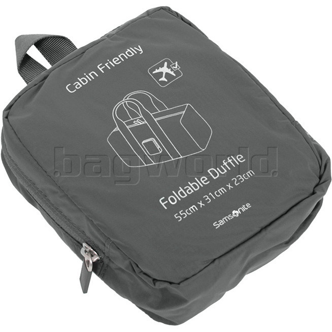 3290c593dcc5 Samsonite Travel Accessories Foldable Duffle Grey 85889