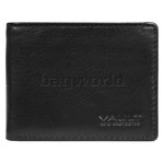 Vault Men's Fullgrain Cowhide RFID Blocking Micro Leather Wallet Black M001