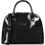 Lipault Plume Vinyl Handle Bag Black 77809