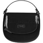 Lipault Plume Vinyl Saddle Bag Black 77811  - 2