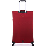 Antler Zeolite Softside Suitcase Set of 3 Red 42626, 42616, 42615 with FREE GO Travel Luggage Scale G2006 - 1