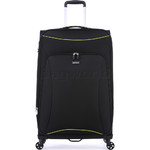 Antler Zeolite Softside Suitcase Set of 3 Black 42626, 42616, 42615 with FREE GO Travel Luggage Scale G2006 - 3