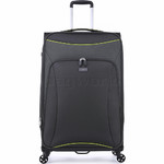 Antler Zeolite Softside Suitcase Set of 3 Charcoal 42626, 42616, 42615 with FREE GO Travel Luggage Scale G2006 - 3