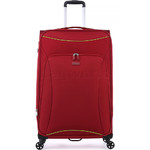 Antler Zeolite Softside Suitcase Set of 3 Red 42626, 42616, 42615 with FREE GO Travel Luggage Scale G2006 - 3