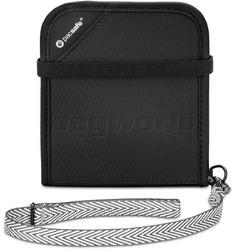 Pacsafe RFIDsafe V100 RFID Blocking Bi-Fold Wallet Black 10556