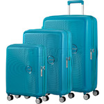 American Tourister Curio Hardside Suitcase Set of 3 Turquoise 87999, 86229, 86230 with FREE Samsonite Luggage Scale 34042