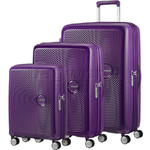 American Tourister Curio Hardside Suitcase Set of 3 Purple 87999, 86229, 86230 with FREE Samsonite Luggage Scale 34042