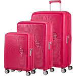 American Tourister Curio Hardside Suitcase Set of 3 Pink 87999, 86229, 86230 with FREE Samsonite Luggage Scale 34042