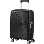 American Tourister Curio Small/Cabin 55cm Expandable Hardside Suitcase Black 87999
