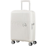 American Tourister Curio Small/Cabin 55cm Expandable Hardside Suitcase White 87999
