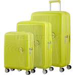 American Tourister Curio Hardside Suitcase Set of 3 Yellow 87999, 86229, 86230 with FREE Samsonite Luggage Scale 34042