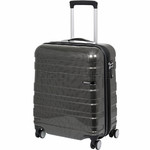 American Tourister HS MV+ Deluxe Size 55cm Expandable Hardside Suitcase Black Checks 88208
