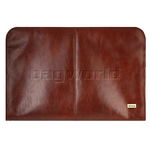 Artex Client Leather Zip Portfolio Brown 43111