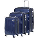 American Tourister Dartz Hardside Suitcase Set of 3 Navy 87023, 87024, 87067 with FREE Samsonite Luggage Scale 34042