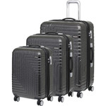 American Tourister Dartz Hardside Suitcase Set of 3 Black Checks 87023, 87024, 87067 with FREE Samsonite Luggage Scale 34042