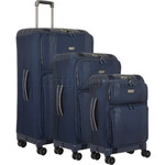 Antler Titus Softside Suitcase Set of 3 Navy 90626, 90623, 90622 with FREE GO Travel Luggage Scale G2006