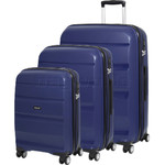 American Tourister Bon Air Deluxe Hardside Suitcase Set of 3 Midnight Navy 87851, 87852, 87853 with FREE Samsonite Luggage Scale 34042
