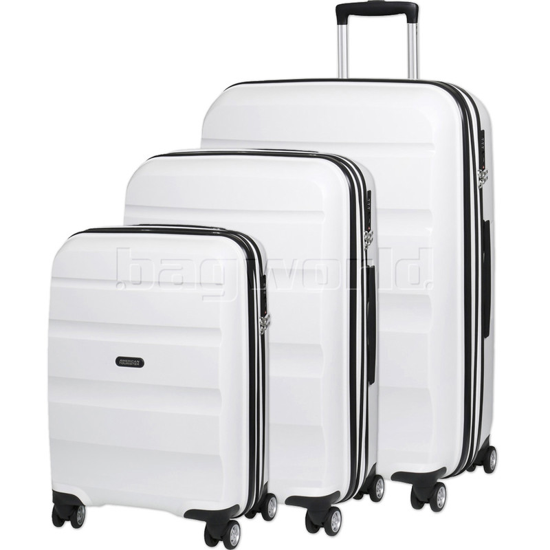 c8ee32bfde American Tourister Bon Air Deluxe Hardside Suitcase Set of 3 White 87851