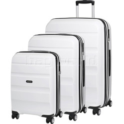 American Tourister Bon Air Deluxe Hardside Suitcase Set of 3 White 87851, 87852, 87853 with FREE Samsonite Luggage Scale 34042