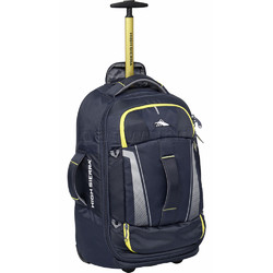 ded2f9d0fc2a High Sierra Composite V3 Small Cabin 56cm Wheeled Duffel with Backpack  Straps Navy 87274