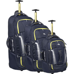 High Sierra Composite V3 Backpack Wheel Duffel Set of 3 Navy 87274, 87275, 87276 with FREE Samsonite Luggage Scale 34042