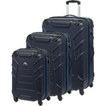 High Sierra Rocshell Hardside Suitcase Set of 3 Navy 02681, 02682, 02683 with FREE Samsonite Luggage Scale 34042