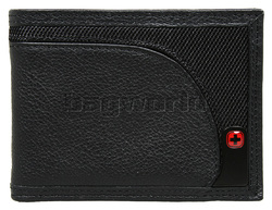 Wenger Leather Wallet Black SAD95