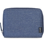 Pacsafe RFIDsafe LX150 RFID Blocking Zippered Passport Wallet Denim 10745