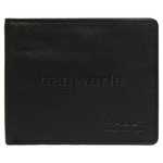 Vault Men's Fullgrain RFID Blocking Slimline Leather Wallet Black M002