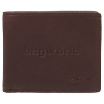 Vault Men's Fullgrain RFID Blocking Slimline Leather Wallet Brown M002