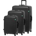 Lojel Rando Frame Hardside Suitcase Set of 3 Black RAF80, RAF69, RAF56 with Free Lojel Luggage Scale OCS27