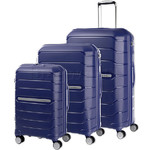 Samsonite Octolite Hardside Suitcase Set of 3 Navy 74643, 74644, 78793 with FREE Samsonite Luggage Scale 34042