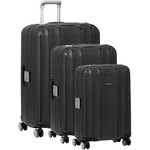 Qantas Blackall Hardside Suitcase Set of 3 Black 89079, 89068, 89058 with FREE GO Travel Luggage Scale G2006
