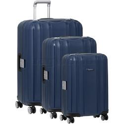 Qantas Blackall Hardside Suitcase Set of 3 Navy 89079, 89068, 89058 with FREE GO Travel Luggage Scale G2006