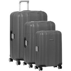 Qantas Blackall Hardside Suitcase Set of 3 Silver 89079, 89068, 89058 with FREE GO Travel Luggage Scale G2006