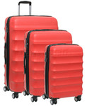 Antler Juno Hardside Suitcase Set of 3 Red 34926, 34923, 34922 with FREE GO Travel Luggage Scale G2006