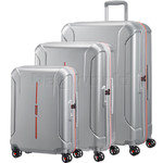 American Tourister Technum Hardside Suitcase Set of 3 Aluminium 89304, 89303, 91849 with FREE Samsonite Luggage Scale 34042