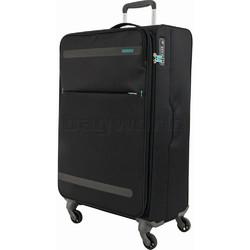 American Tourister Herolite Medium 69cm Softside Suitcase Volcanic Black 93011