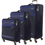 American Tourister Herolite Softside Suitcase Set of 3 Midnight Blue 93012, 93011, 93010 with FREE Samsonite Luggage Scale 34042