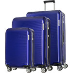 Samsonite Arq Hardside Suitcase Set of 3 Cobalt Blue 91061, 91060, 91059 with FREE Samsonite Luggage Scale 34042