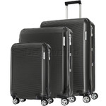 Samsonite Arq Hardside Suitcase Set of 3 Matte Graphite 91061, 91060, 91059 with FREE Samsonite Luggage Scale 34042