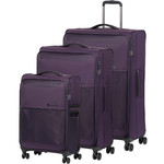 Samsonite 72 Hours Deluxe Softside Suitcase Set of 3 Purple 92328, 92327, 92326 with FREE Samsonite Luggage Scale 34042