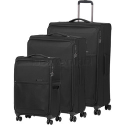 Samsonite 72 Hours Deluxe Softside Suitcase Set of 3 Black 92328, 92327, 92326 with FREE Samsonite Luggage Scale 34042
