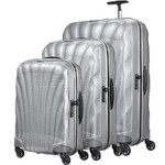 Samsonite Cosmolite 3.0 Hardside Suitcase Set of 3 Silver 73352, 73350, 73349 with FREE Samsonite Luggage Scale 34042