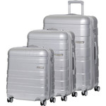 American Tourister HS MV+ Deluxe Hardside Suitcase Set of 3 Aluminium 88208, 88209, 88210 with FREE Samsonite Luggage Scale 34042