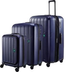 Lojel Lucid 2 Hardside Suitcase Set of 3 Navy JLT54, JLT70, JLT79 with FREE Lojel Luggage Scale OCS27