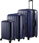 Lojel Lucid 2 Hardside Suitcase Set of 3 Navy JLT54, JLT70, JLT79 with FREE Lojel Luggage Scale OCS27