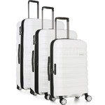 Antler Juno 2 Hardside Suitcase Set of 3 White 42215, 42216, 42219 with FREE GO Travel Luggage Scale G2006